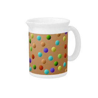 Colorful Multicolored Polka Dot Pattern Pitcher