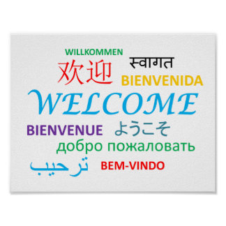 Colorful Multiple Language Welcome Poster