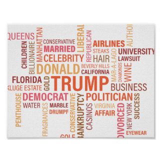 Colorful Multiple Trump Donald Politician Poster