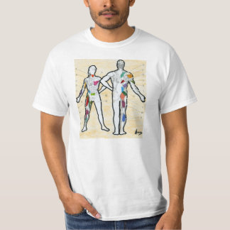 "Colorful muscles chart anatomy ""t shirt"" t shirt"