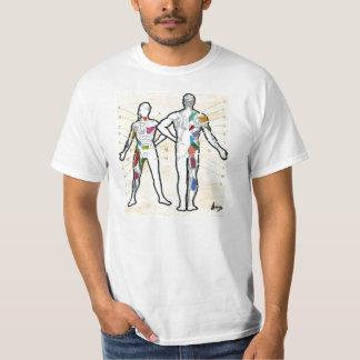 "Colorful muscles chart anatomy ""t shirt"" tee shirts"
