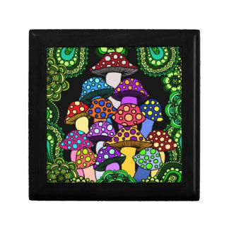Colorful Mushrooms Trinket Box