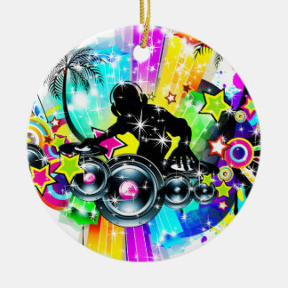 Colorful Music DJ Christmas Ornament