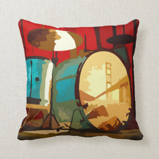 Colorful Music Drums Cushion