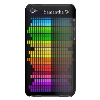 Colorful Music Equalizer w/Reflection, Cool Techno Barely There iPod Case