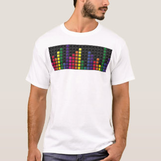 Colorful Music Levels blue worn tattered tshirt