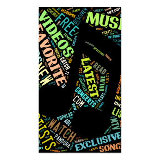 Colorful Music Note Business Card