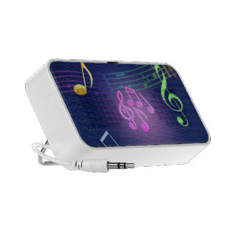 Colorful Music Note Portable Speakers