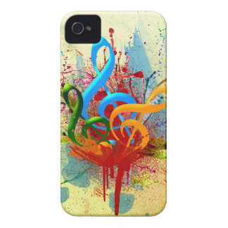Colorful Music Notes iPhone 4 Case-Mate Case