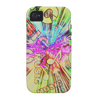 Colorful Music Notes Vibe iPhone 4 Case