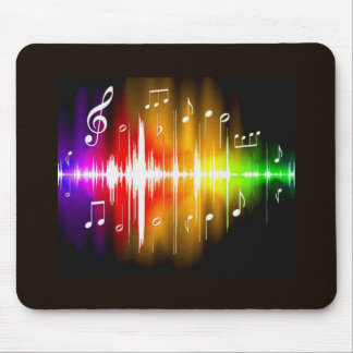 Colorful Music Notes Mouse Mat
