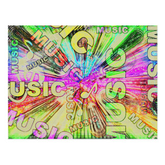 Colorful Music Notes Postcard