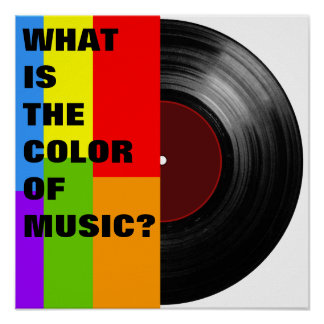 colorful music vinyl record poster