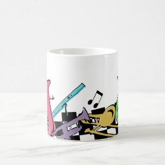 Colorful Musical Instruments Basic White Mug