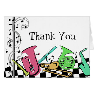 Colorful Musical Instruments Note Card