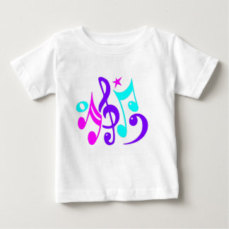 Colorful Musical Notes Baby T-Shirt