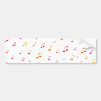 Colorful Musical Notes: Bumper Sticker