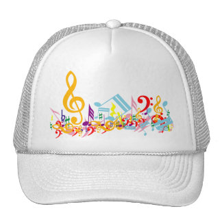 Colorful Musical Notes Hat