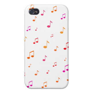 Colorful Musical Notes: iPhone 4/4S Cases