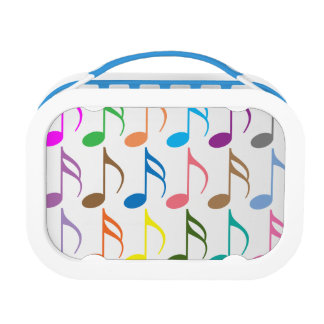 Colorful musical notes pattern lunch box