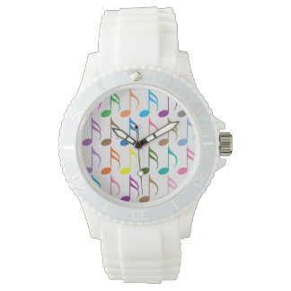 Colorful musical notes pattern watch