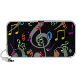 Colorful Musical Notes Speakers