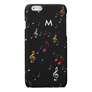 colorful musical notes with initial iPhone 6 plus case