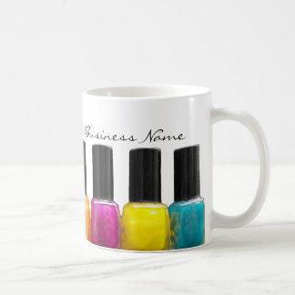 Colorful Nail Polish Bottles Nail Salon Coffee Mug