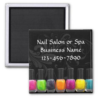 Colorful Nail Polish Bottles, Nail Salon Square Magnet