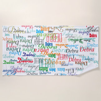 colorful names custom pattern stylish beach towel