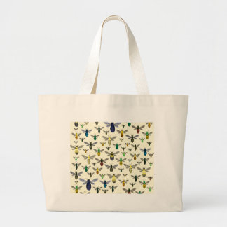 Colorful Native Bees Large Tote Bag