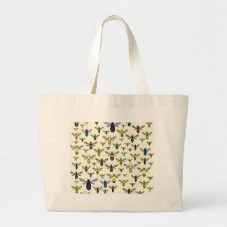 Colorful Native Bees Jumbo Tote Bag