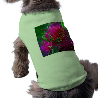 Colorful Nature Floral Hot Pink Neon Green Flowers Dog T Shirt