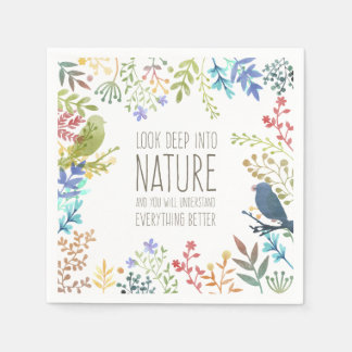 Colorful Nature Inspired Quote | Napkin Paper Napkin