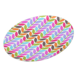 Colorful Nature Leaves Melamine Dinner Plates
