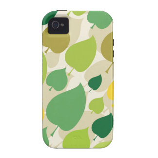 Colorful Nature Pattern Green Yellow Leaves Case For The iPhone 4
