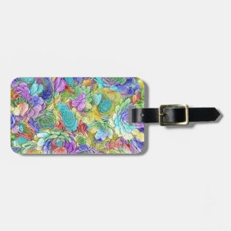 Colorful Nature Succulent Plants Luggage Tag