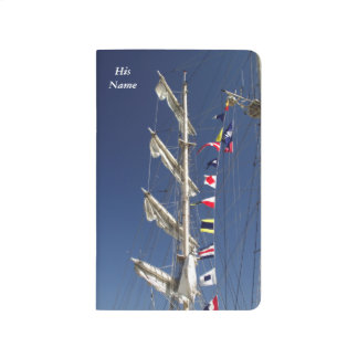 Colorful Nautical Flags on a Tall Ship Journal