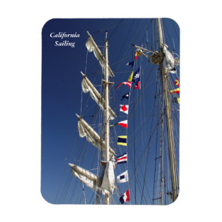 Colorful Nautical Flags on a Tall Ship Magnet