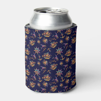 Colorful nautical pattern custom background can cooler