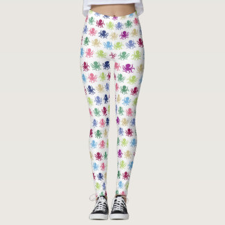 Colorful nautical pattern custom background leggings