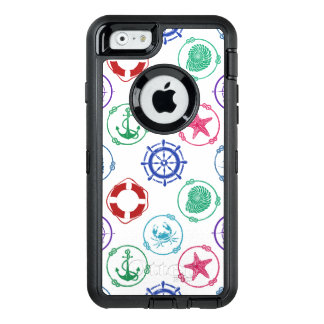 Colorful Nautical Pattern OtterBox Defender iPhone Case