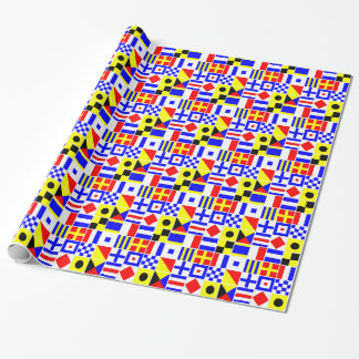Colorful Nautical Signal Flags Pattern 2 Gift Wrap