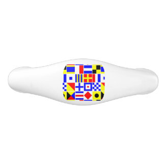 Colorful Nautical Signal Flags Pattern Ceramic Drawer Pull