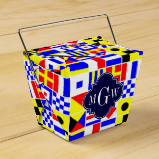Colorful Nautical Signal Flags Royal 3I Monogram Wedding Favour Boxes