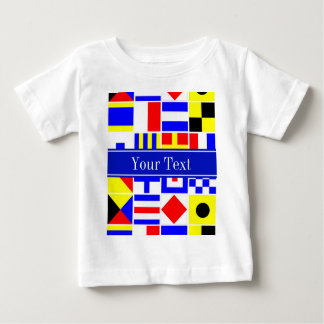 Colorful Nautical Signal Flags Royal Name Monogram Baby T-Shirt