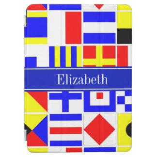Colorful Nautical Signal Flags Royal Name Monogram iPad Air Cover