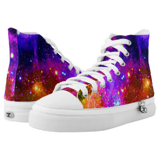 colorful nebula space high tops