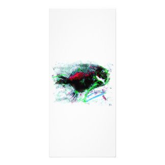 Colorful Negative Image of a Dried fish 10 Cm X 23 Cm Rack Card