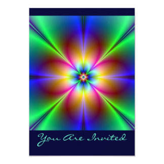 Colorful Neon Daisy Card